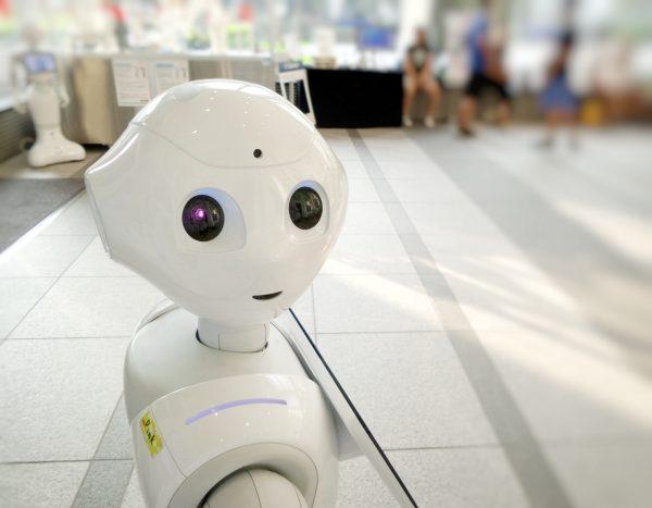 White robot, watching you