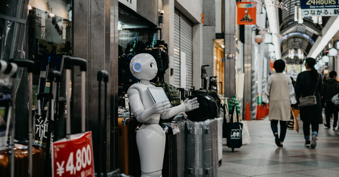 Robot in the street