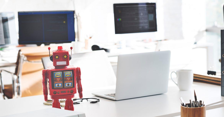 Robots on a desk