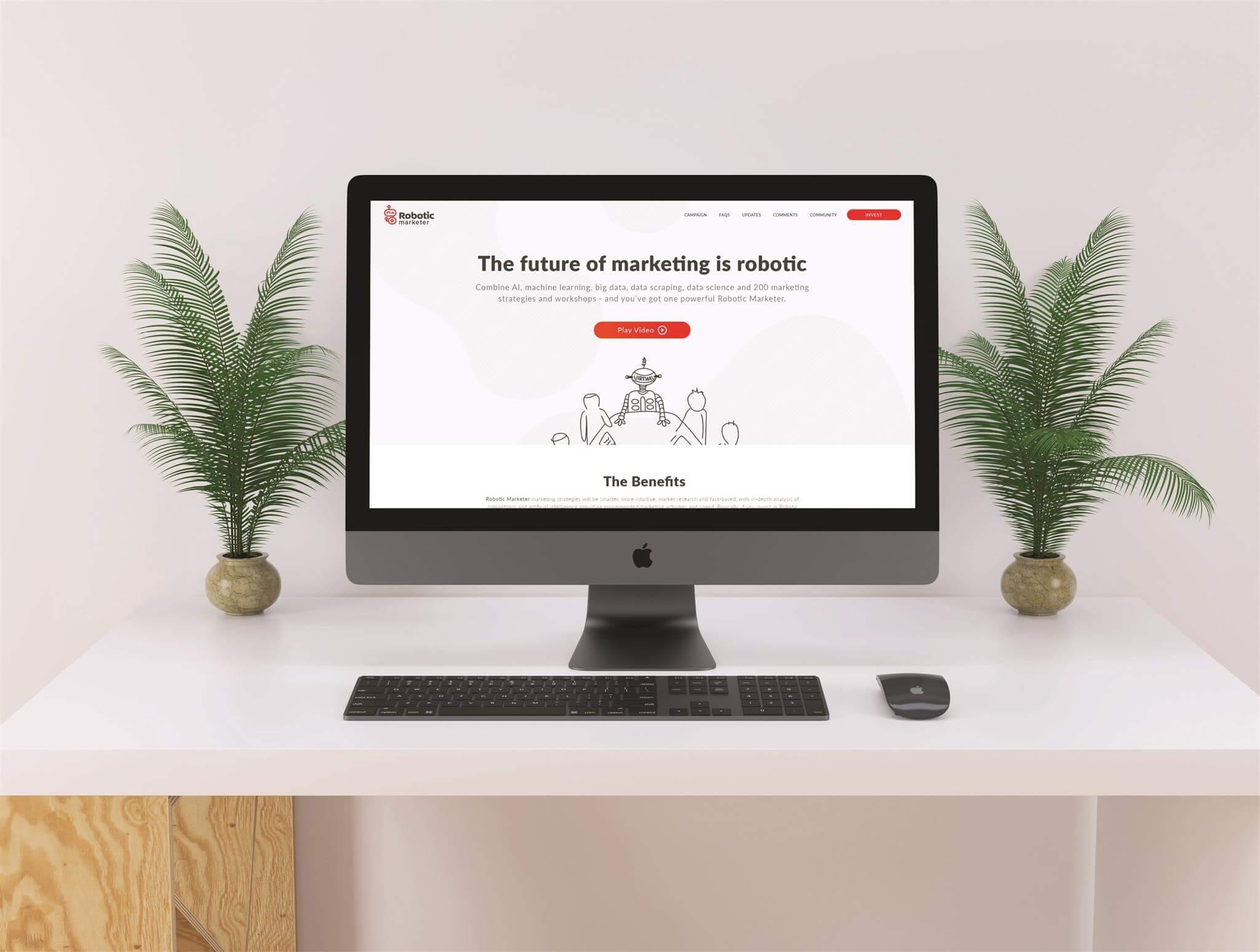 Robotic Marketer Computer Screen